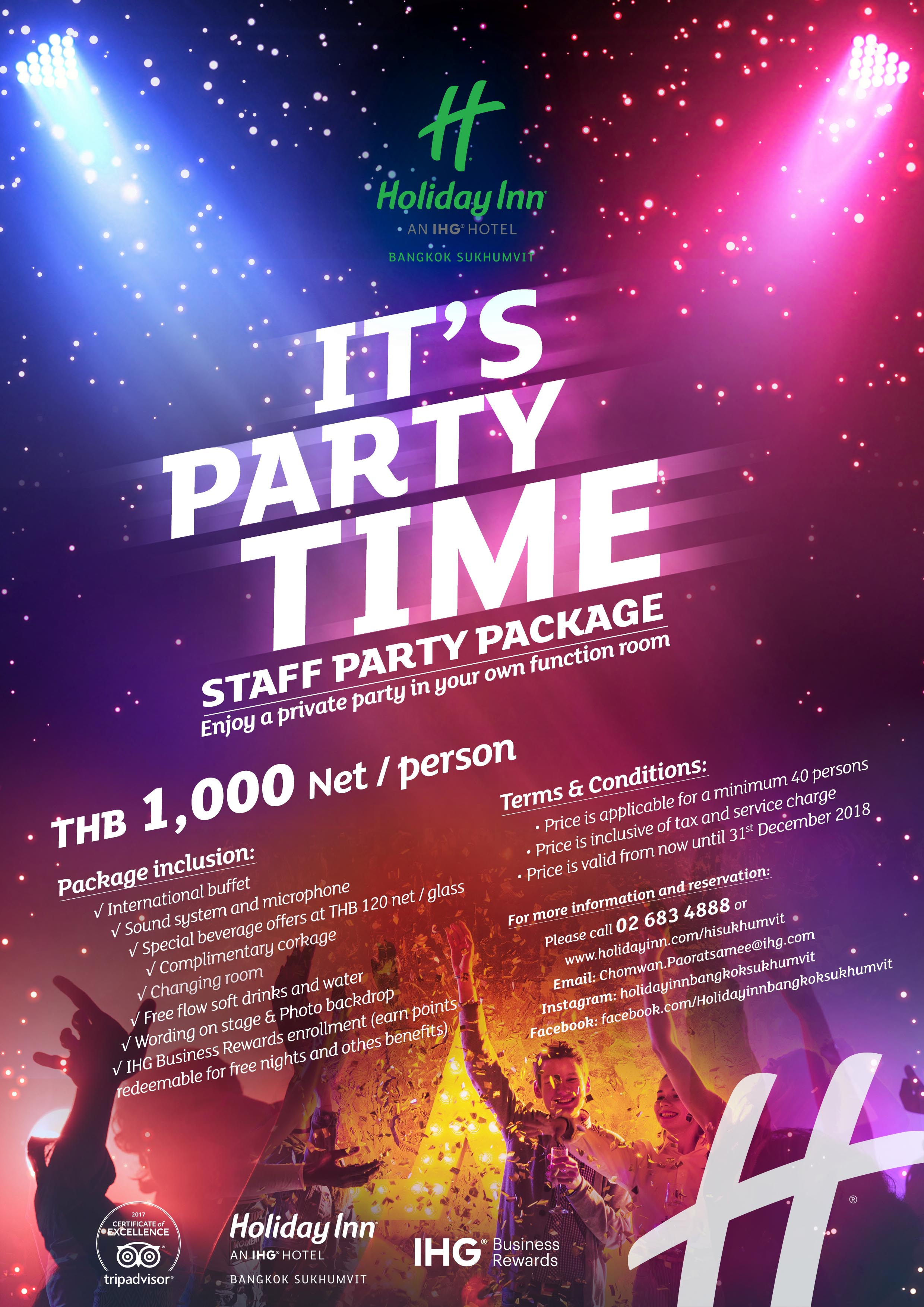 Staff Party Package