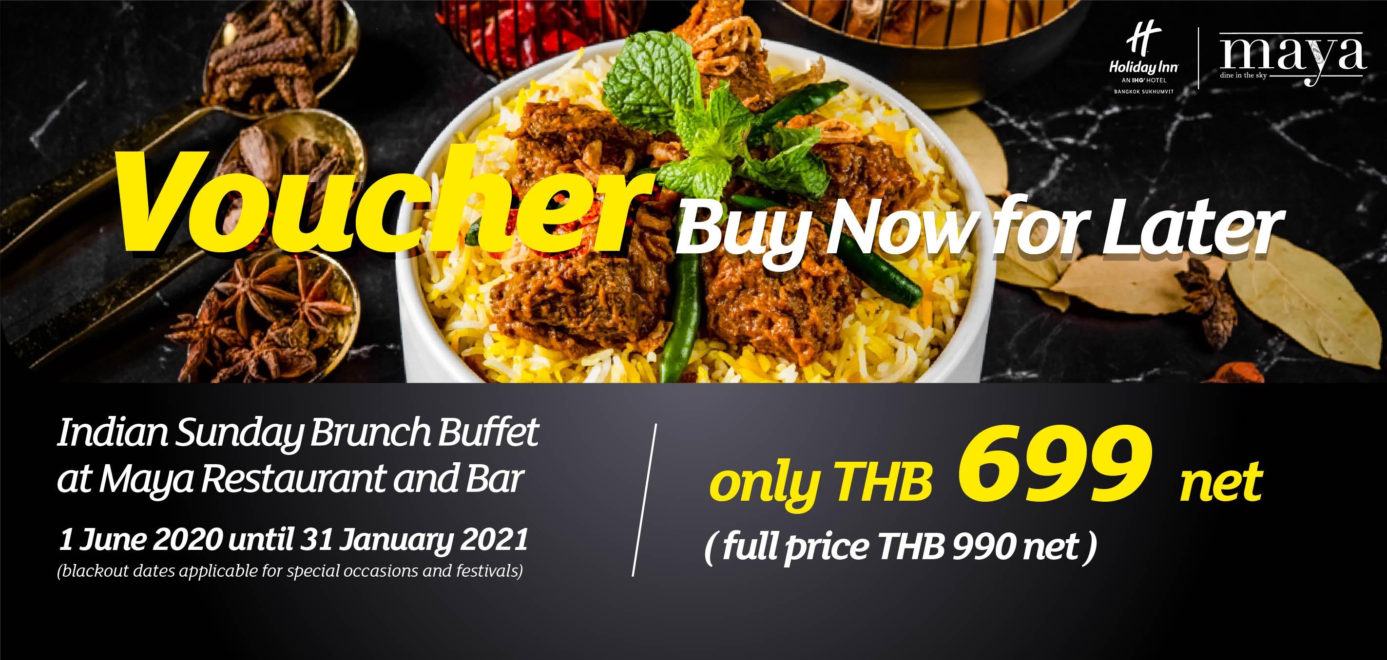 Indian Sunday Brunch Buffet at Maya Restaurant and Bar, Holiday Inn Bangkok Sukhumvit